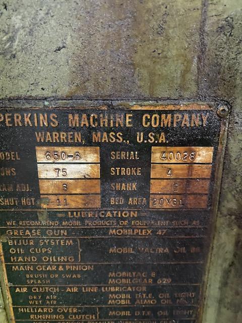 75 Ton Perkins OBI Punch