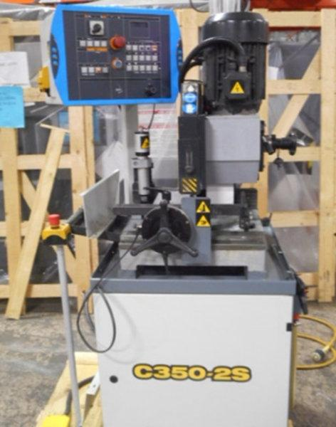 USED HYD-MECH C350-2S SEMI-AUTOMATIC HEAVY DUTY COLD SAW, Stock No. 10575