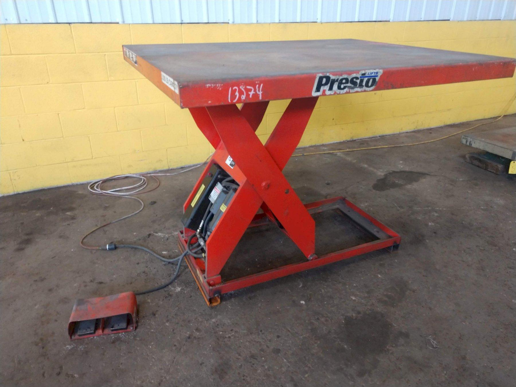 3,000 LB PRESTO ELECTRIC SCISSOR LIFT TABLE