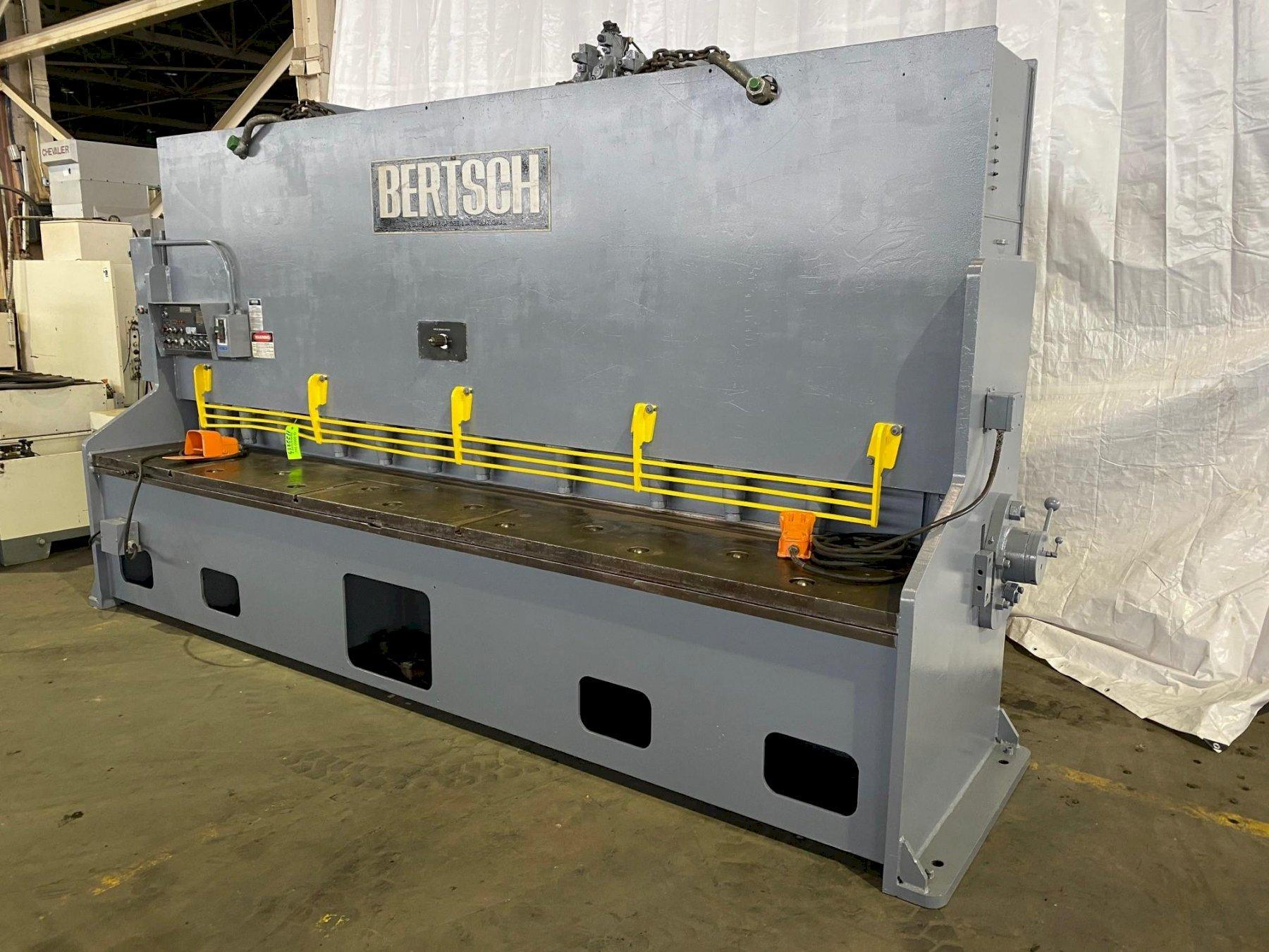 "12' x 1/2"" BERTSCH HYDRAULIC POWER SQUARING SHEAR"
