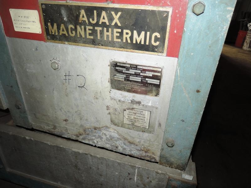 AJAX MODEL MFL-50T LIFT COIL AND BED FOR #100 CRUCIBLE S/N M4S72OA  VOLTS 1250 PH 1  AMPS 1030  3KHZ