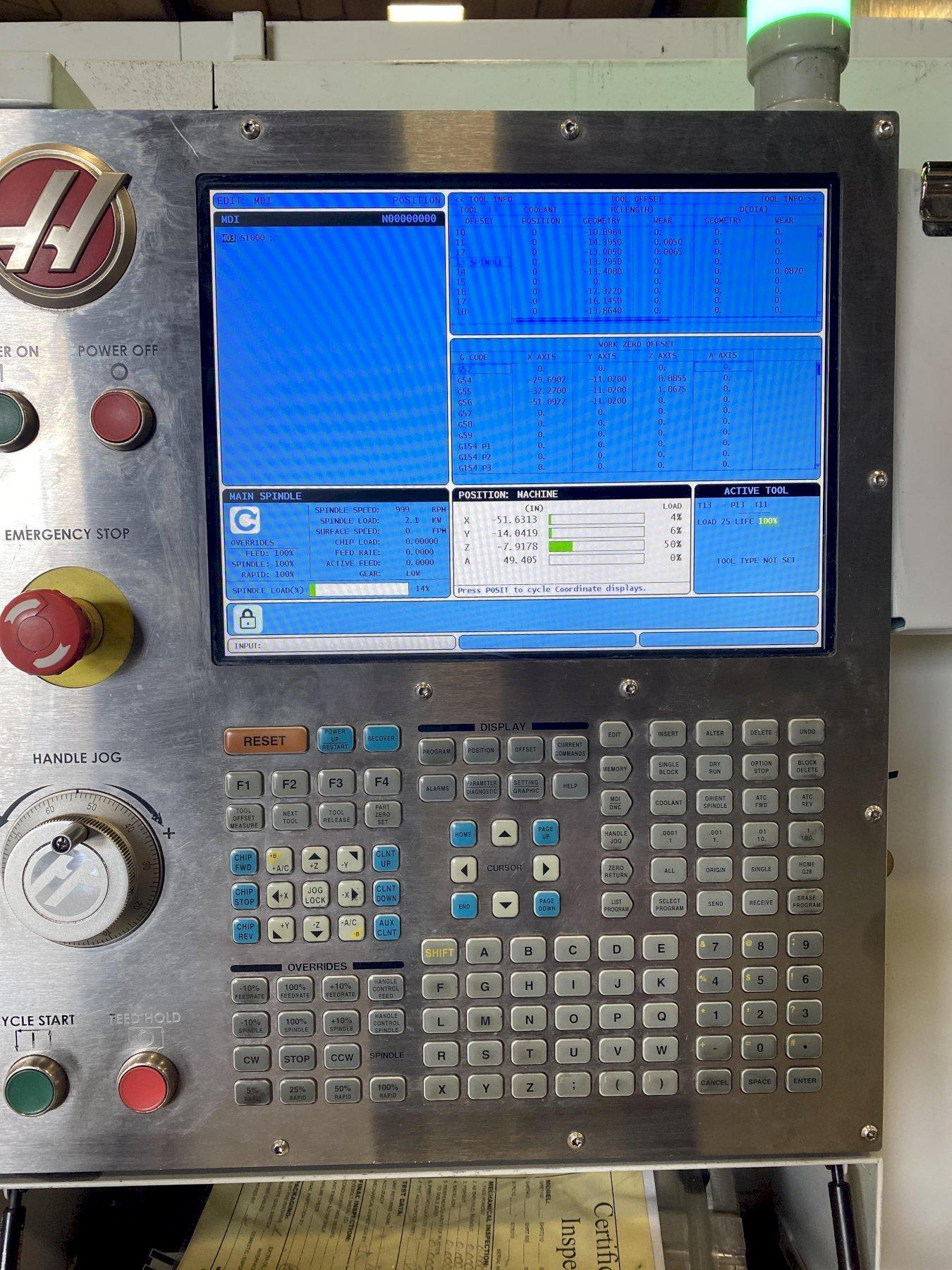 Haas VF-7/50 Vertical Machining Center HRT 450