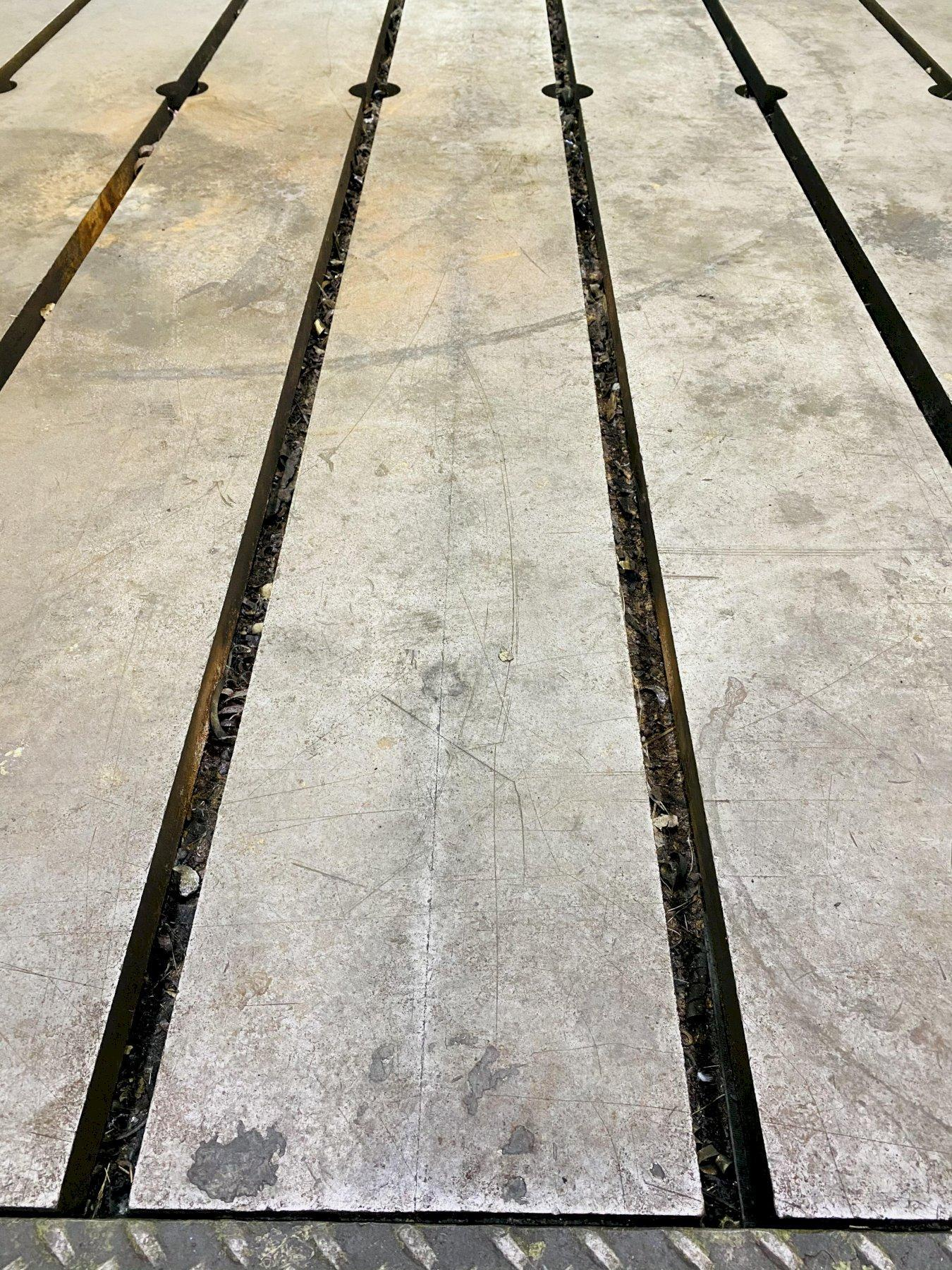 "144"" X 288"" X 14"" GIDDINGS & LEWIS T-SLOTTED FLOOR PLATE. STOCK # 0310121"
