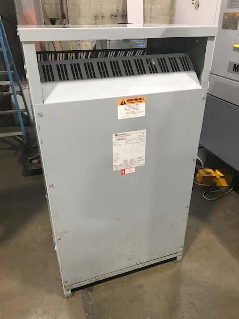150 KVA CUTLER-HAMMER 480 PRIMARY to 208 SECONDARY TRANSFORMER, Model H48M28F49CU, 480/208Y/120, Multi Tap, Dry.