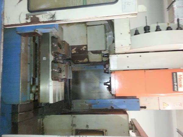 """MAZAK V-414 2-Pallet Mazatrol M32B CNC, (2) 16"""" x 35"""" Pallets, X=22"""", Y=16"""", Z=18"""", 30 Station Tool Changer, 10 HP, New 1994."""