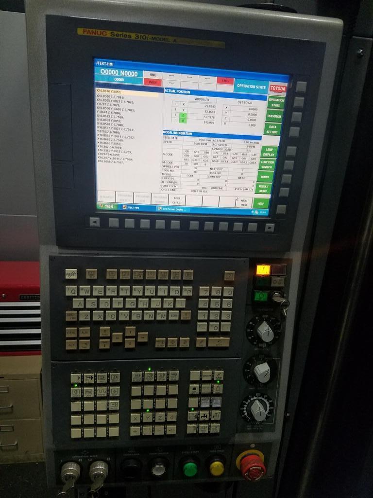 """2010 Toyoda FH-1250SX, Fanuc 310i-Model A Controls, 6K RPM, 49"""" x 49"""" Pallets, Cat 50, 121 ATC"""