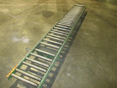 """14"""" x 10' ROLLER CONVEYOR w/ SUPPORT STANDS   Our stock number: 113374"""
