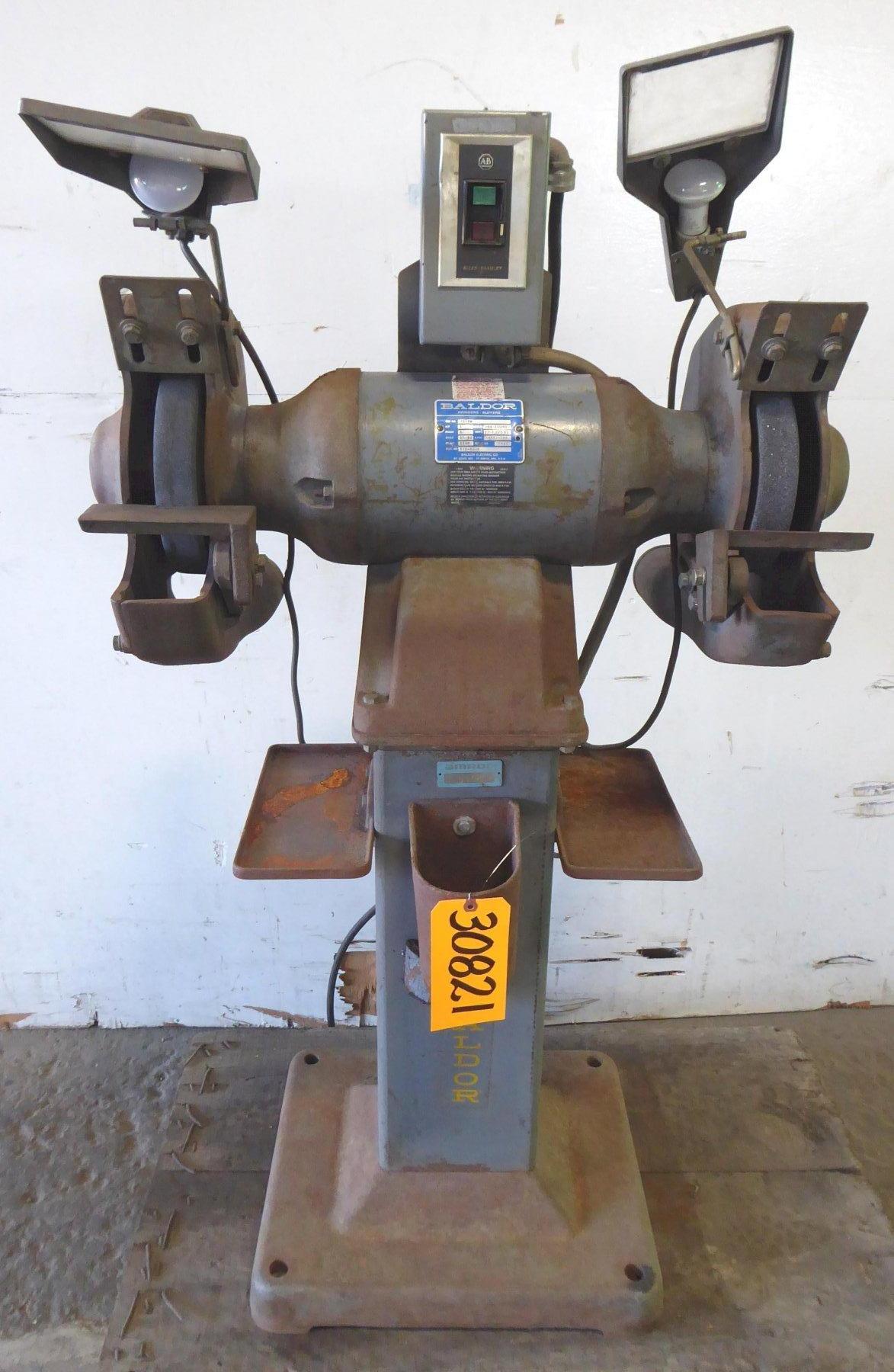 "12"" Baldor Double End Grinder 1216W, 2""W Wheels, Pedestal, 3 HP"
