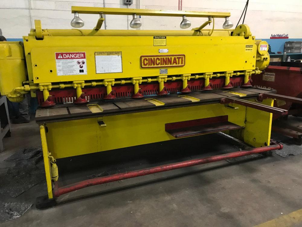 "USED CINCINNATI MECHANICAL SHEAR, Model 1008, 72"" x 10ga. , Stock No. 10486"