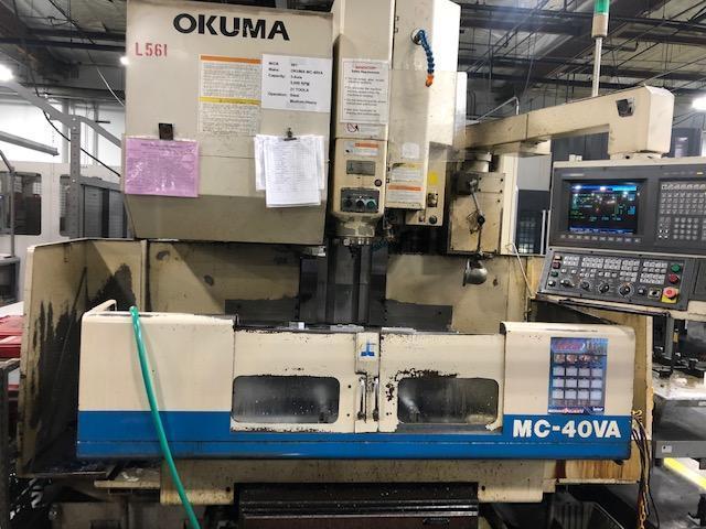 "Okuma MC-40VA CNC VMCs, 3-Available! New: 1996 25.6"" x 16.1"" x 17.7"", CT40, 6K RPM, 7.5 HP, 15 Tools, OSP7000M Ctrl"