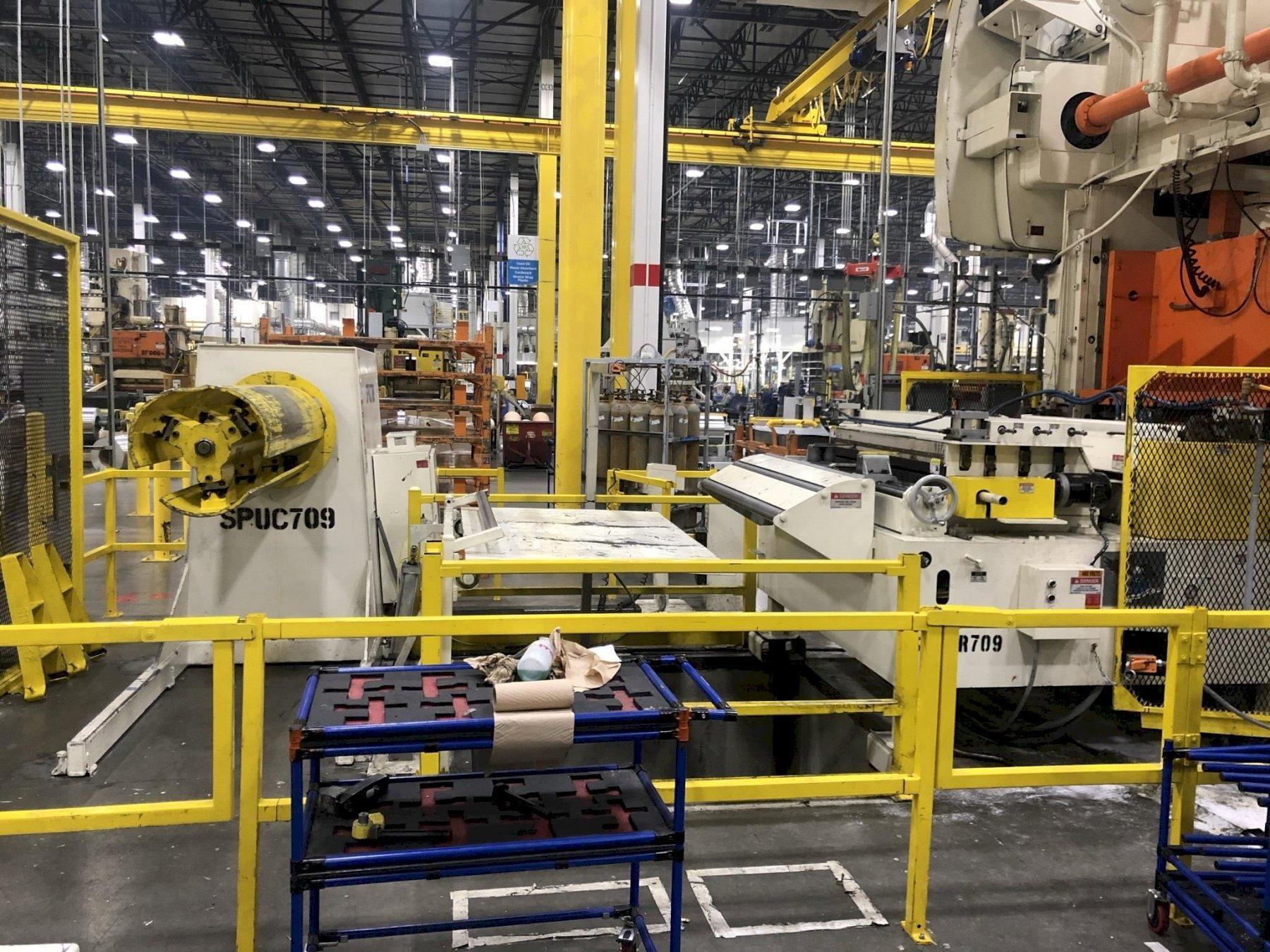 "15,000 lbs x 60"" Coe Press Equipment  Servo Coil Feed Line, 2012"