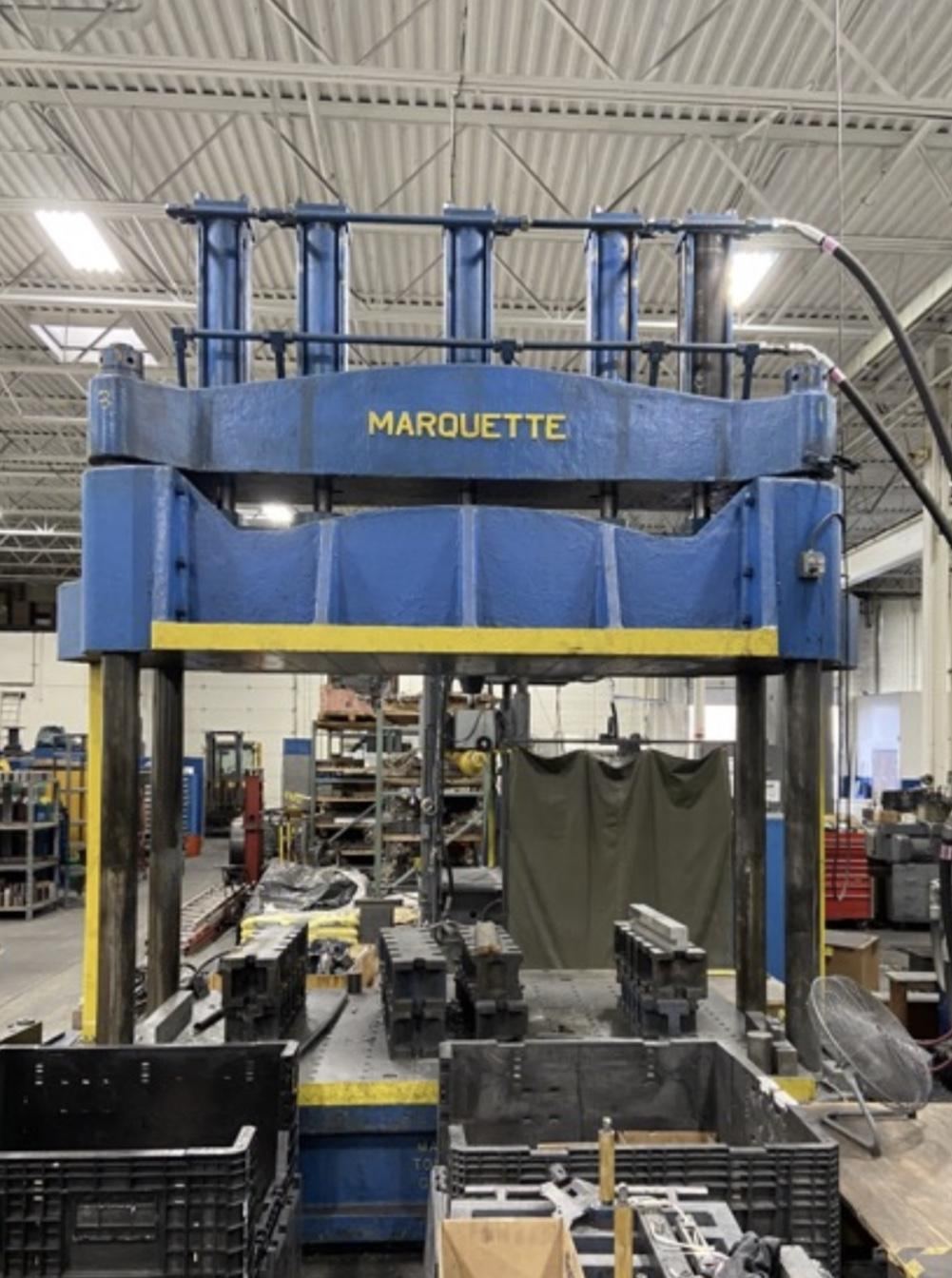 Used 100 Ton Marquette 4 Post Hydraulic Press