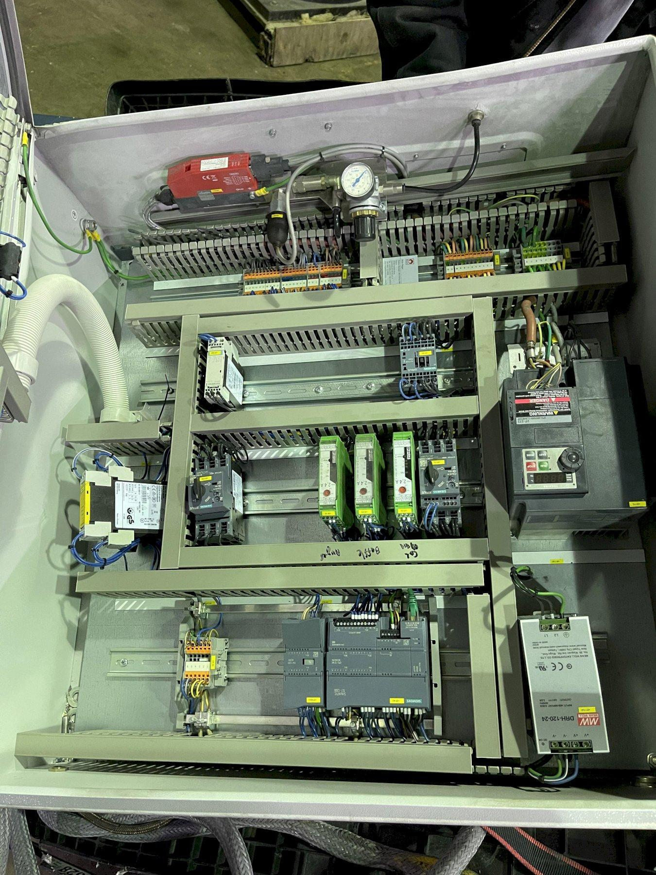 2018 Boma Wissing model roto-stativ MTS-1500 1x degassing system s/n fdu 1827 with nozzle, flux injection, stand and controls, Siemens simatic s7-1200 plc, Toshiba vf-s15 variable frequency drive