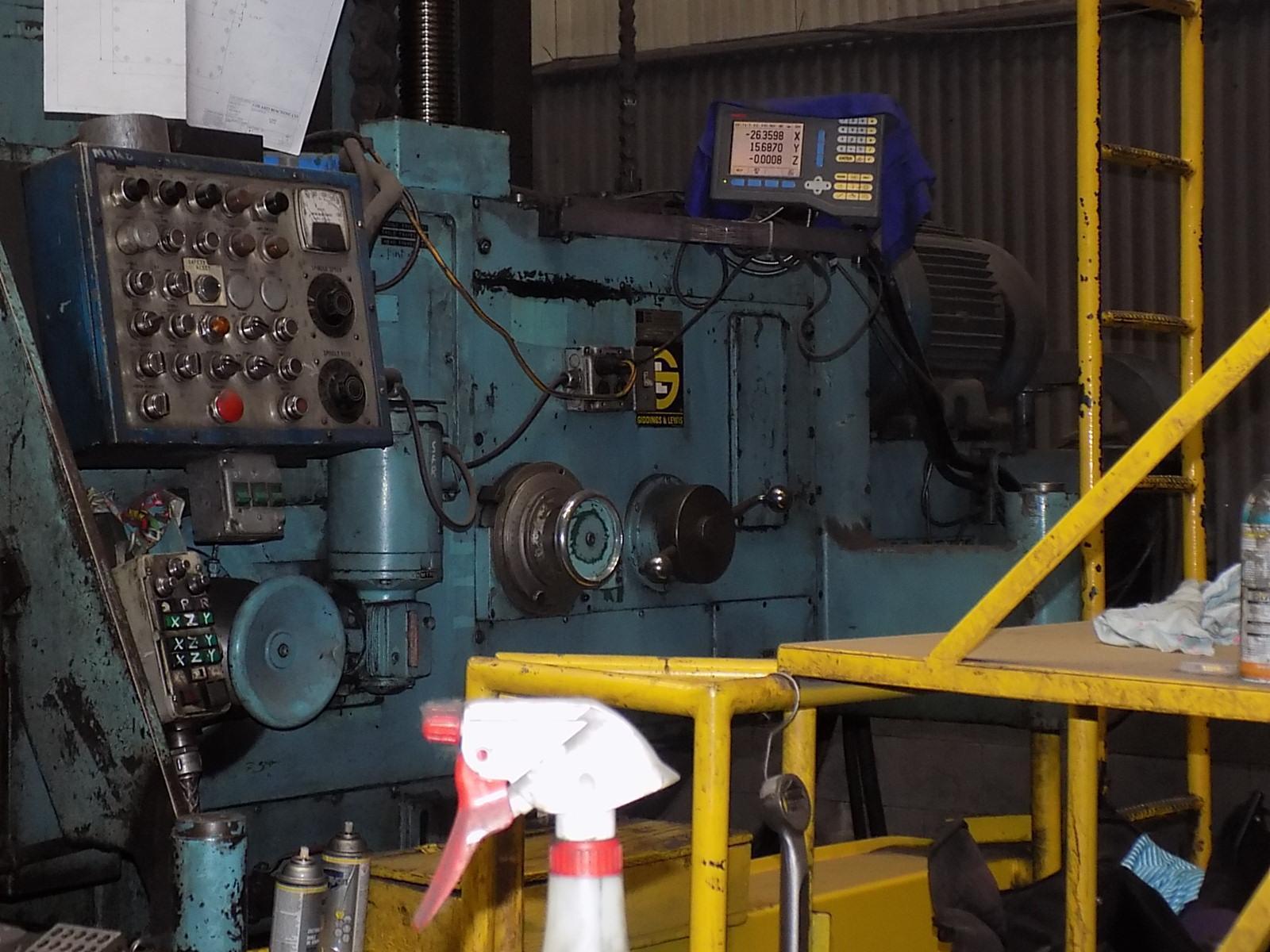 """6"""" Giddings & Lewis 70-H6-T Table Type Horizontal Boring Mill"""