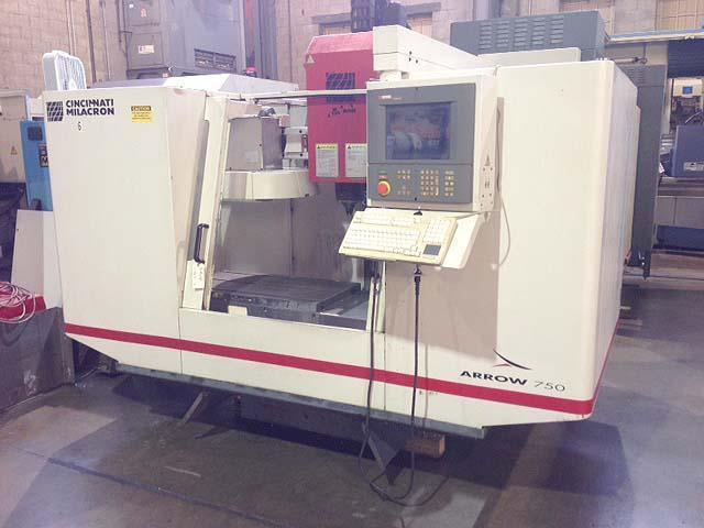 "Cincinnati Arrow 750, Siemens Acramatic 2100 CNC, 37"" x 20"" Table, X=30"", Y=20"", Z=20"", 21 Station Tool Changer, Cat-40, 1998."