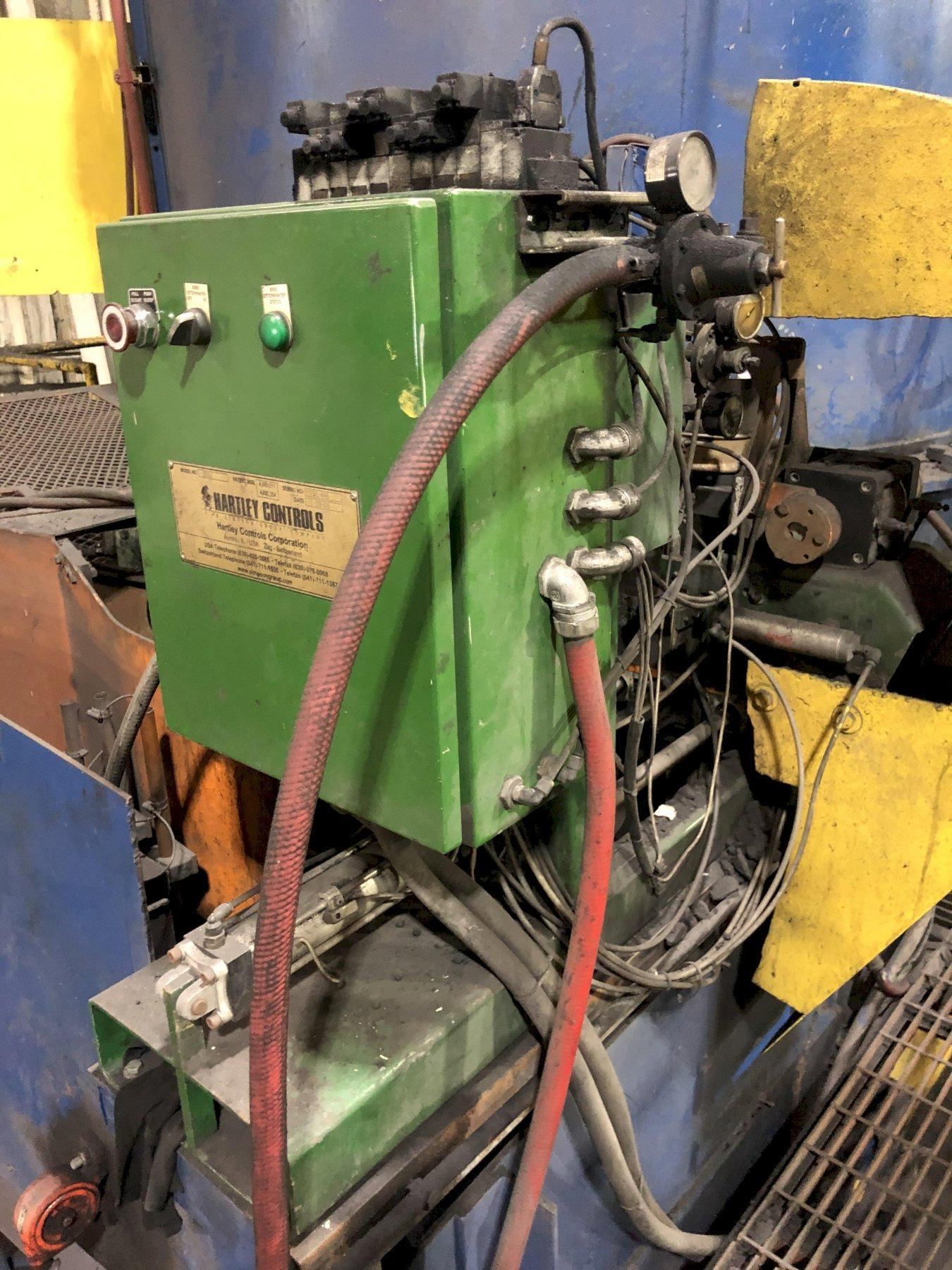 B AND P MODEL 100B250 250 HP HEAVY DUTY SPEED MULLER WITH DUST HOOD, BATCH HOPPER, 250 HP MOTOR, BENISHAW SOFT START SYSTEM: NOTE THE GEARBOX IS MAKING NOISE AND MAY NEED TO BE REPLACED
