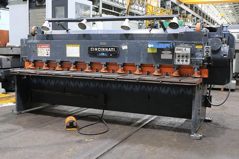 10 Ga x 10 ft Cincinnati Mechanical Power Shear Model 1010