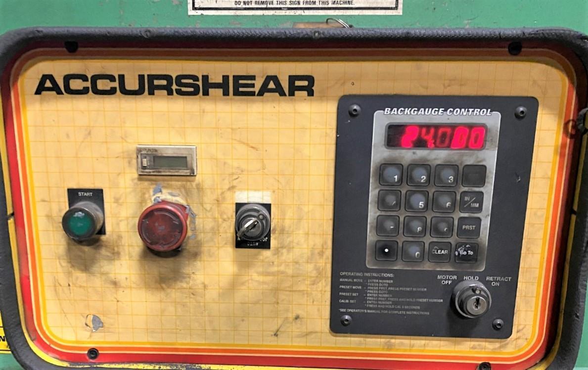 "1995 Accurshear 837512 12' x 3/8"" Shear"