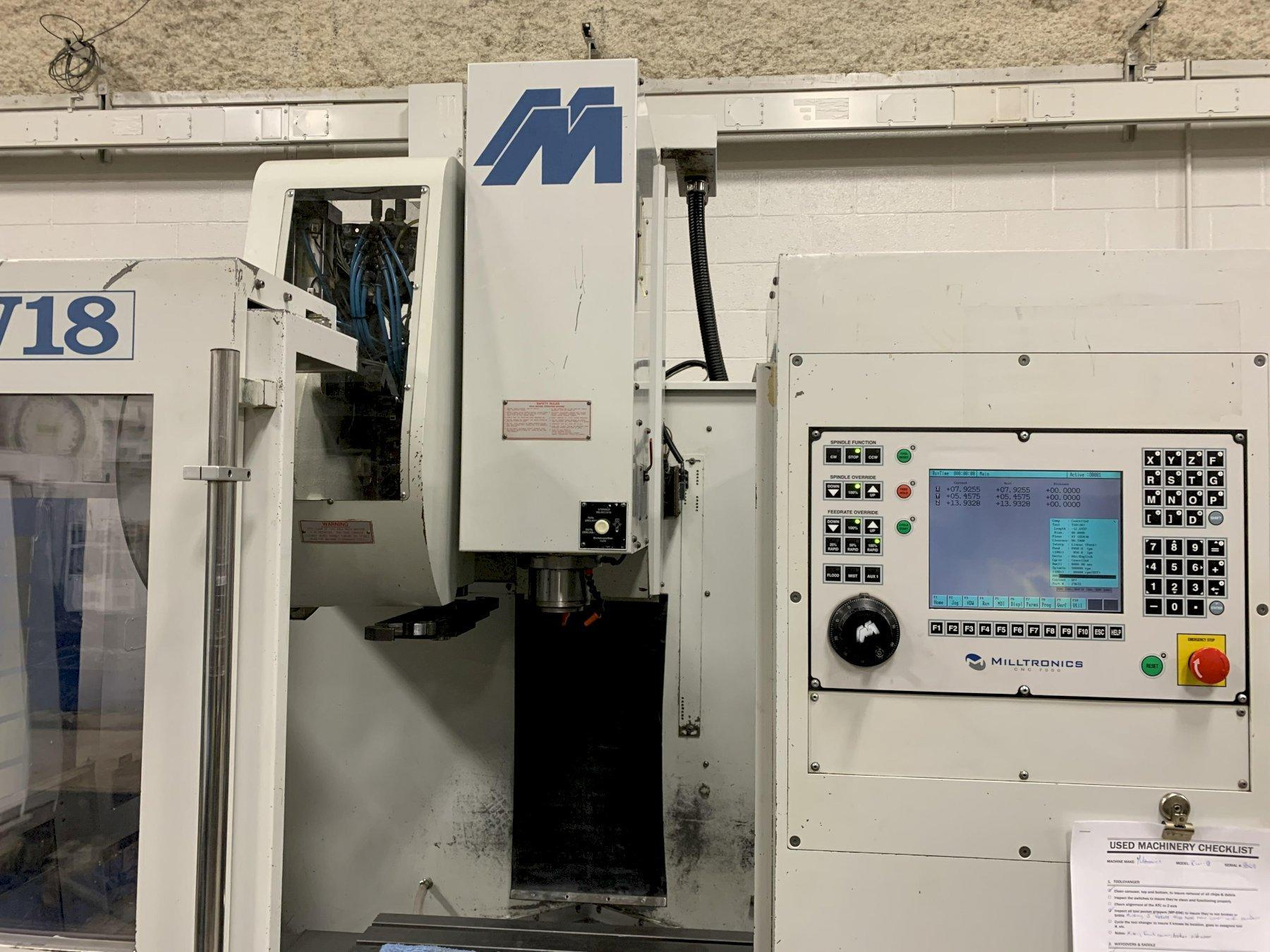 Milltronics RW18 Vertical Machining Center, S/N 8069 - reduced
