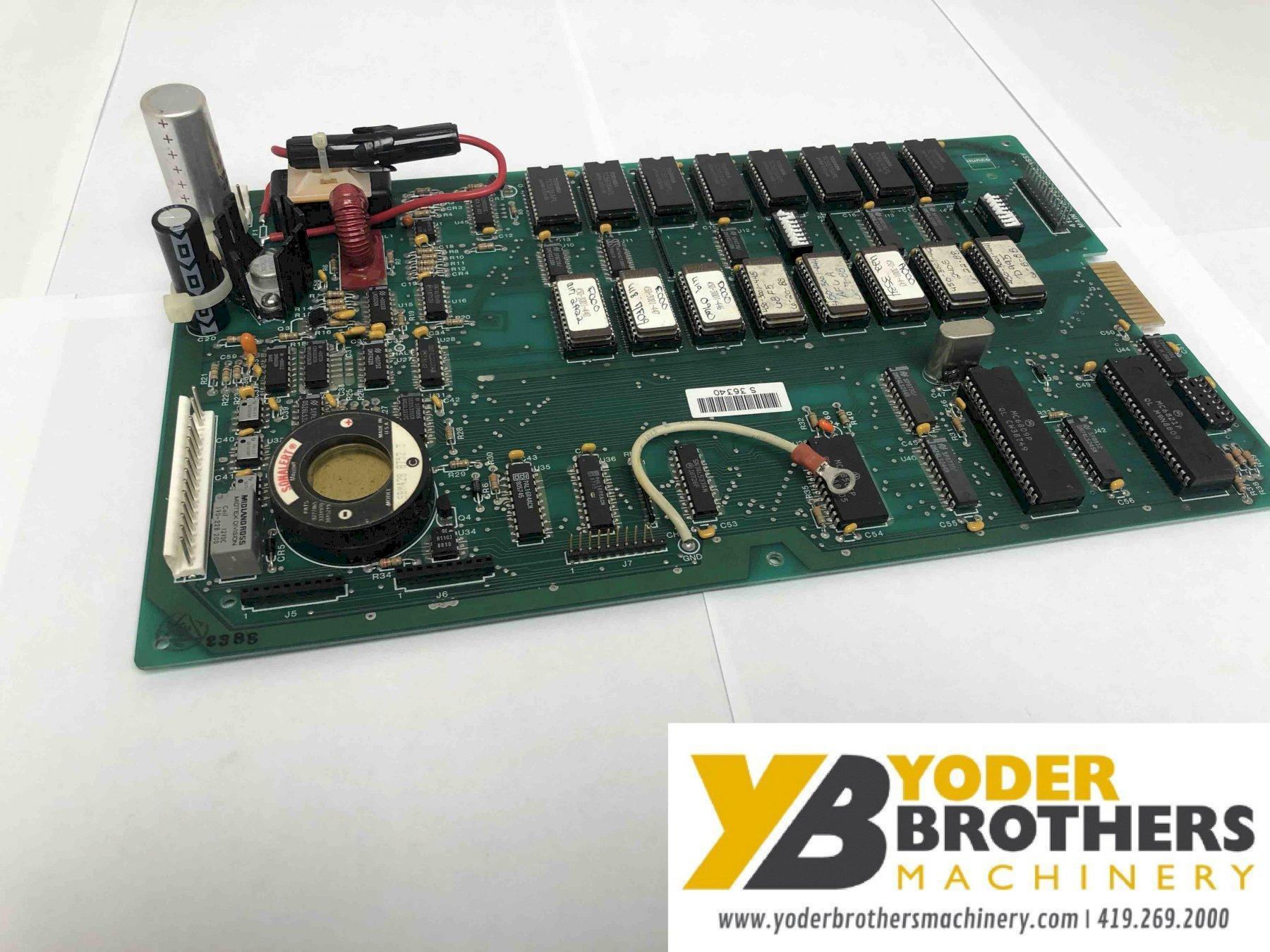 Press Brake Main Control Board; Stock #13255