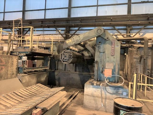 """72"""" (1800mm) x .500"""" (12.7mm) x 60,000# Stamco Slitting Line with 2 Heads"""