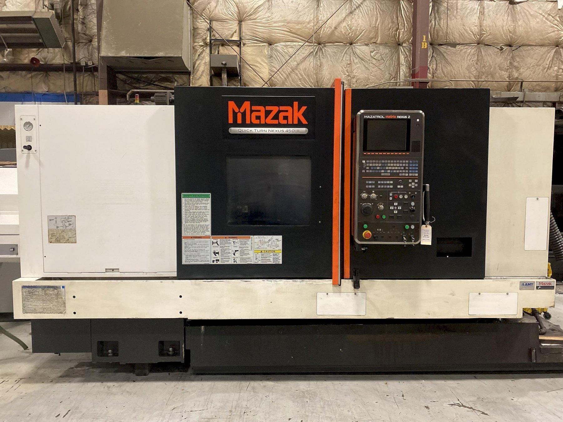 Mazak QTN450II CNC Lathe, Matrix Nexus 2 Control, 21