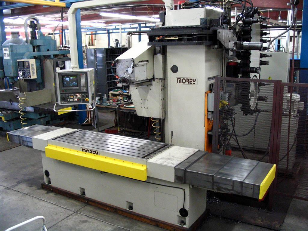 MOREY MODEL 1500 HM HORIZONTAL CNC MACHINING CENTER WITH FANUC 16 M CONTROLS: STOCK #12967