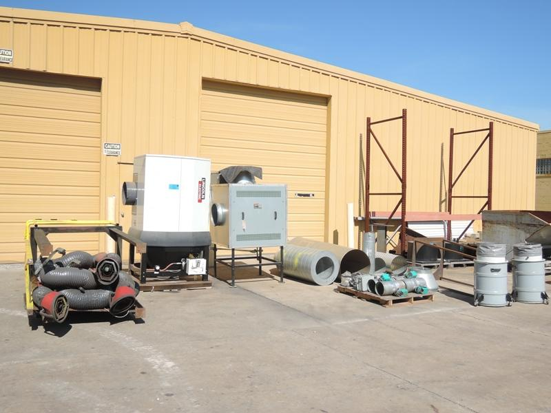 2012 LINCOLN MODEL STATIFLEX  6000MS FUME COLLECTION SYSTEM WITH 4- LOW VACUUM FUME ARMS 13' LONG, SF9000 7.5 HP CENTROL FAN, POWERFLEX 400 FREQUENCY CONTROLLER, STATIFLEX 6000MS FILTRATION UNIT WITH CB 6000MS AUOTMATIC CLEANING, PRESEPARATOR, MAGNEHELIC, AND DUCTING