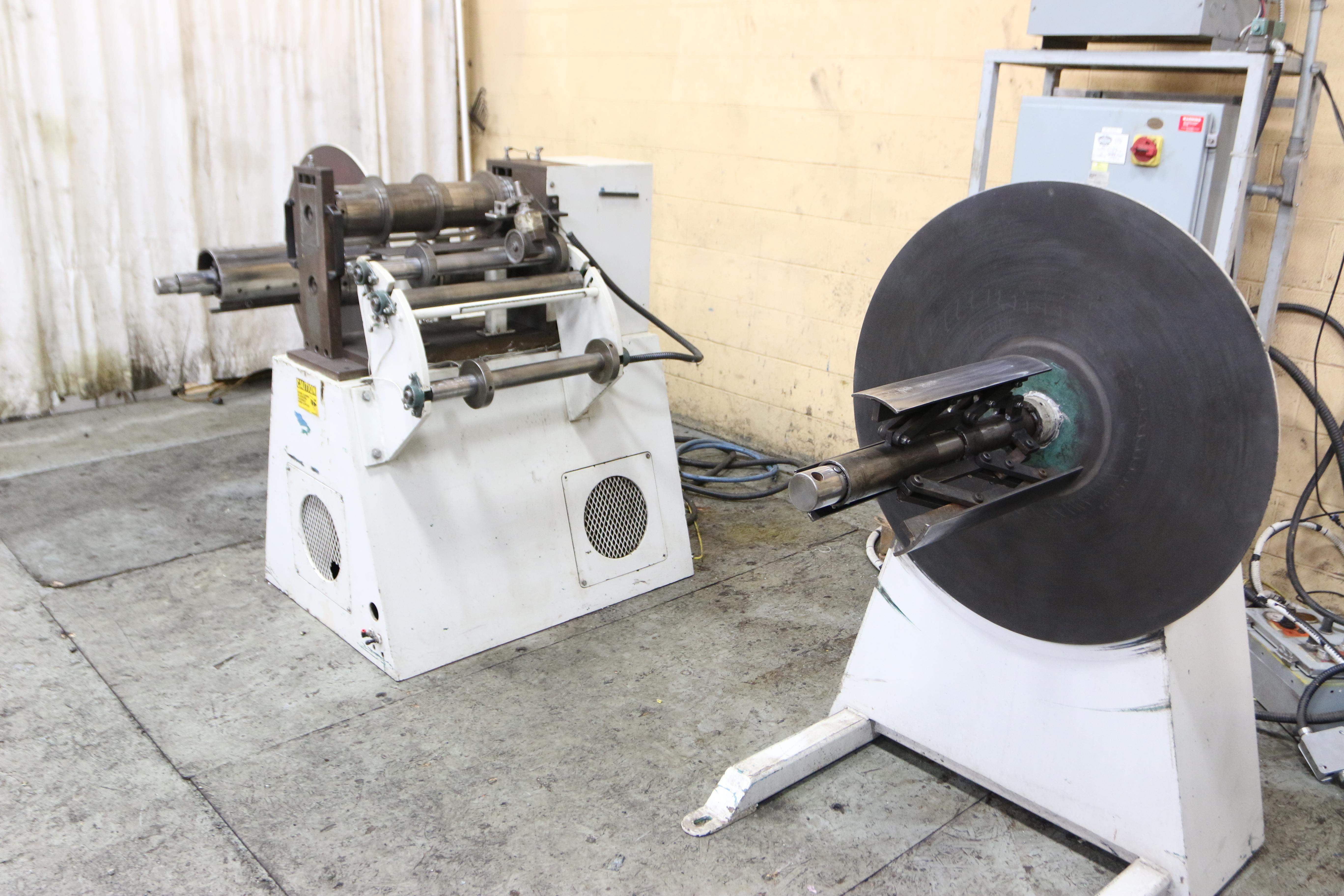 "18"" X 3-1/2"" WALLNER MODEL 4680 PRECISION PACKAGE SLITTING LINE: STOCK #10277"