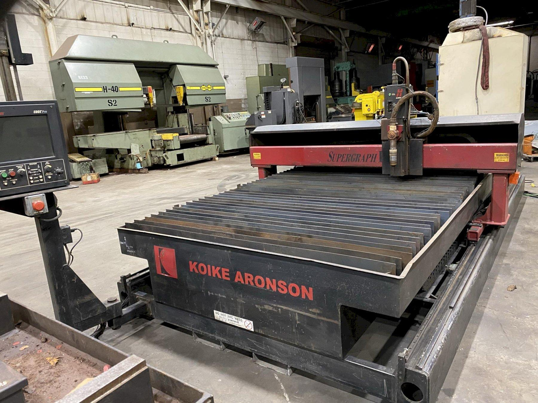 USED KOIKE ARONSON 6' X 10' MODEL SUPERGRAPH IV 260 AMP HIGH DEFINITION CNC PLASMA CUTTER, Stock # 10784, Year 2006
