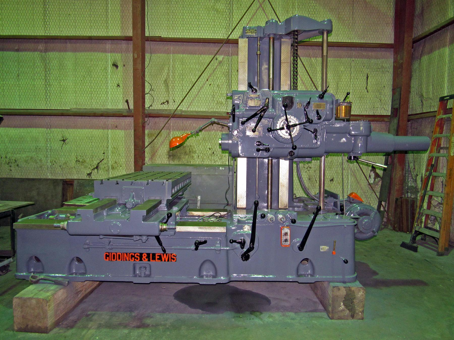 "USED, 3"" GIDDINGS & LEWIS MODEL 330-T TABLE TYPE HORIZONTAL BORING MILL"