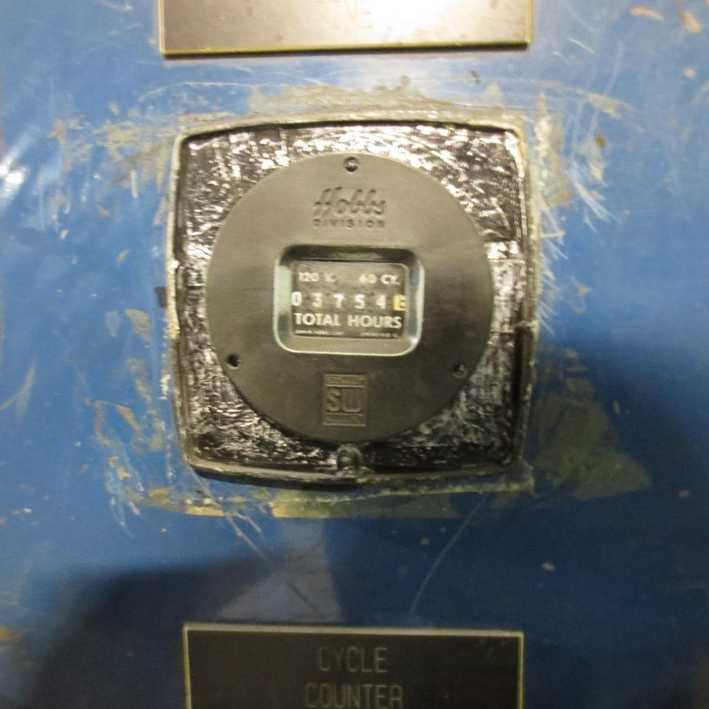 4 COMPARTMENT X 25 HP BLASTEC MODEL SB-9412 SPINNER HANGER SHOT BLAST MACHINE