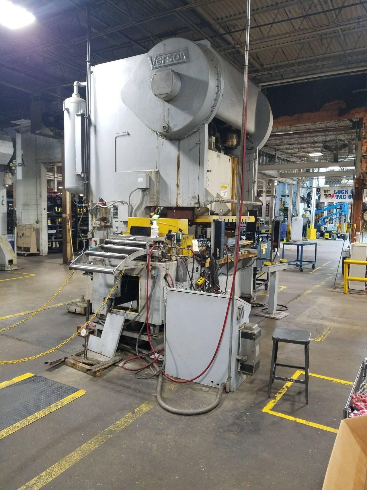 250 ton Verson 250-GP2-72 Double Crank Gap Press