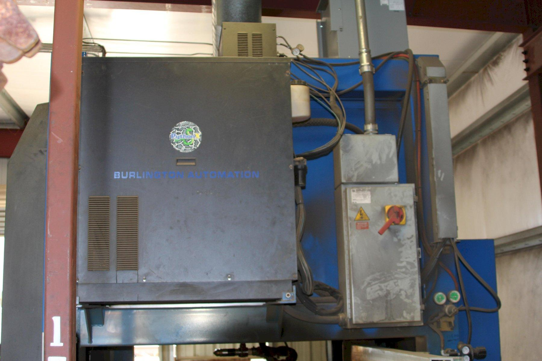 2010 BURLINGTON AUTOMATION PYTHON MODEL XS PLASMA CNC STRUCTURAL CUTTING SYSTEM: STOCK 14430