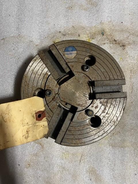 "6"" Nikko 3-Jaw Used Mdl Rear Act Hydraulic S/N 63547"