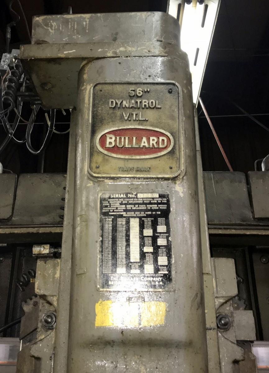 56' BULLARD DYNATROL VERTICAL TURRET LATHE: STOCK #70286