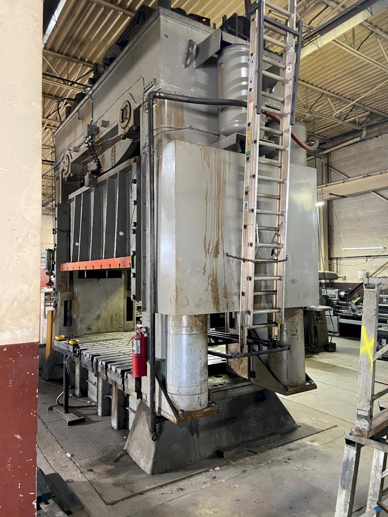 500 TON BLISS STRAIGHT SIDE PRESS. STOCK # 0955720