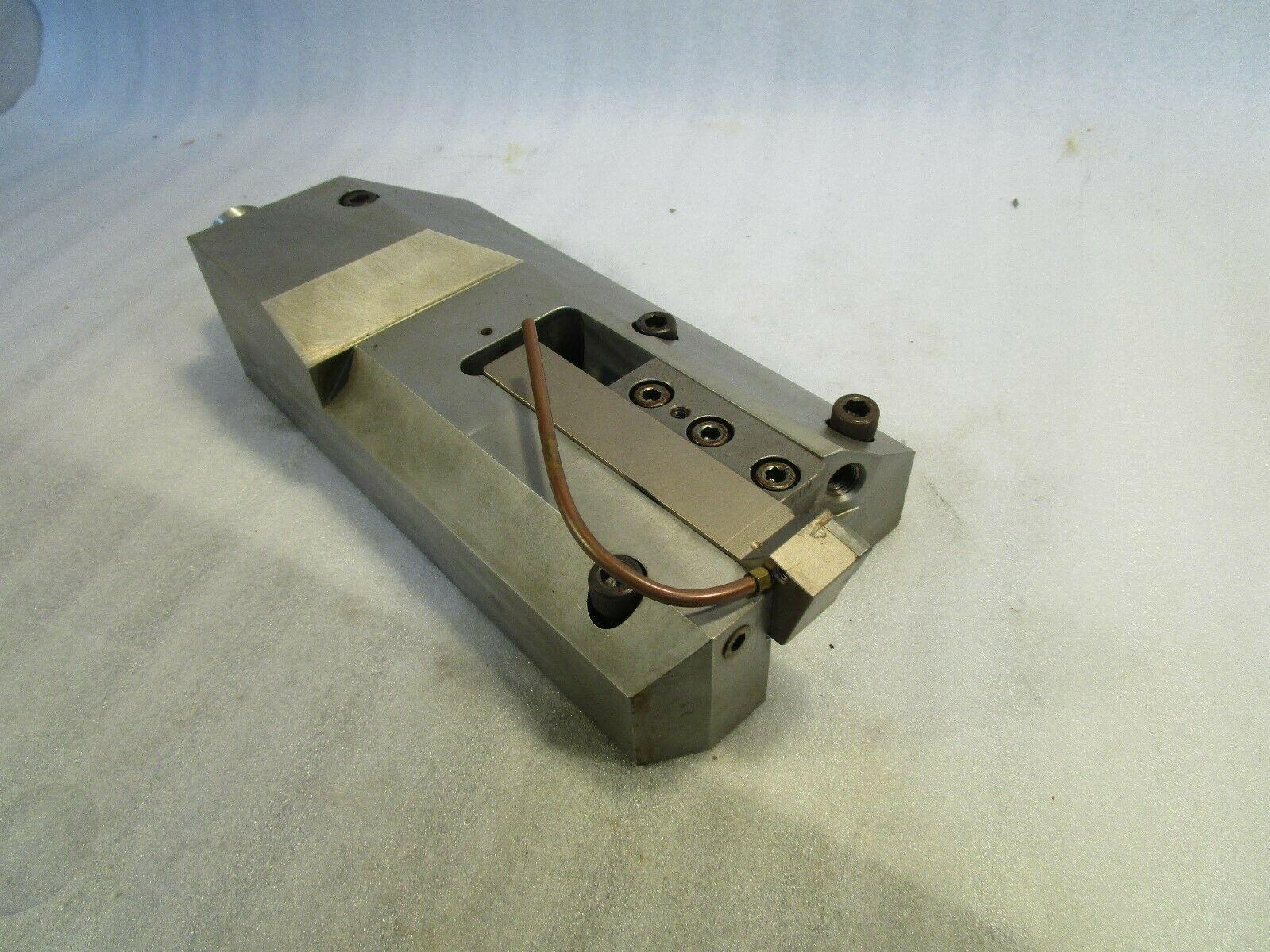 """Lathe Tool Block, Tool Holder with 1"""" Stick Tool, Bolt-on Tool Holder with tool"""