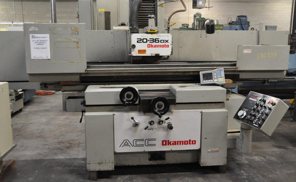 """20"""" X 36"""" OKAMOTO Model No. ACC-20-36DX 3-AXIS HYDRAULIC SURFACE GRINDER, New: 1994"""