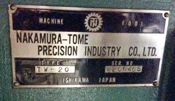 """Nakamura Tome TW-20, Fanuc 18T CNC, 12.2"""" Swing, 42"""" Between Spindles, Twin Spindle, Twin Turret, Collet Chucks, 5000rpm, New 1999."""