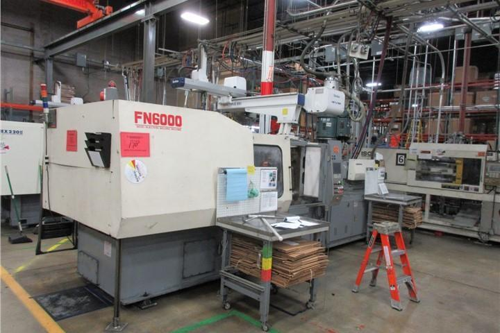 Nissei Used FN6000-71A Injection Molding Machine, 309 US ton, Yr. 2001, 29.9 oz.