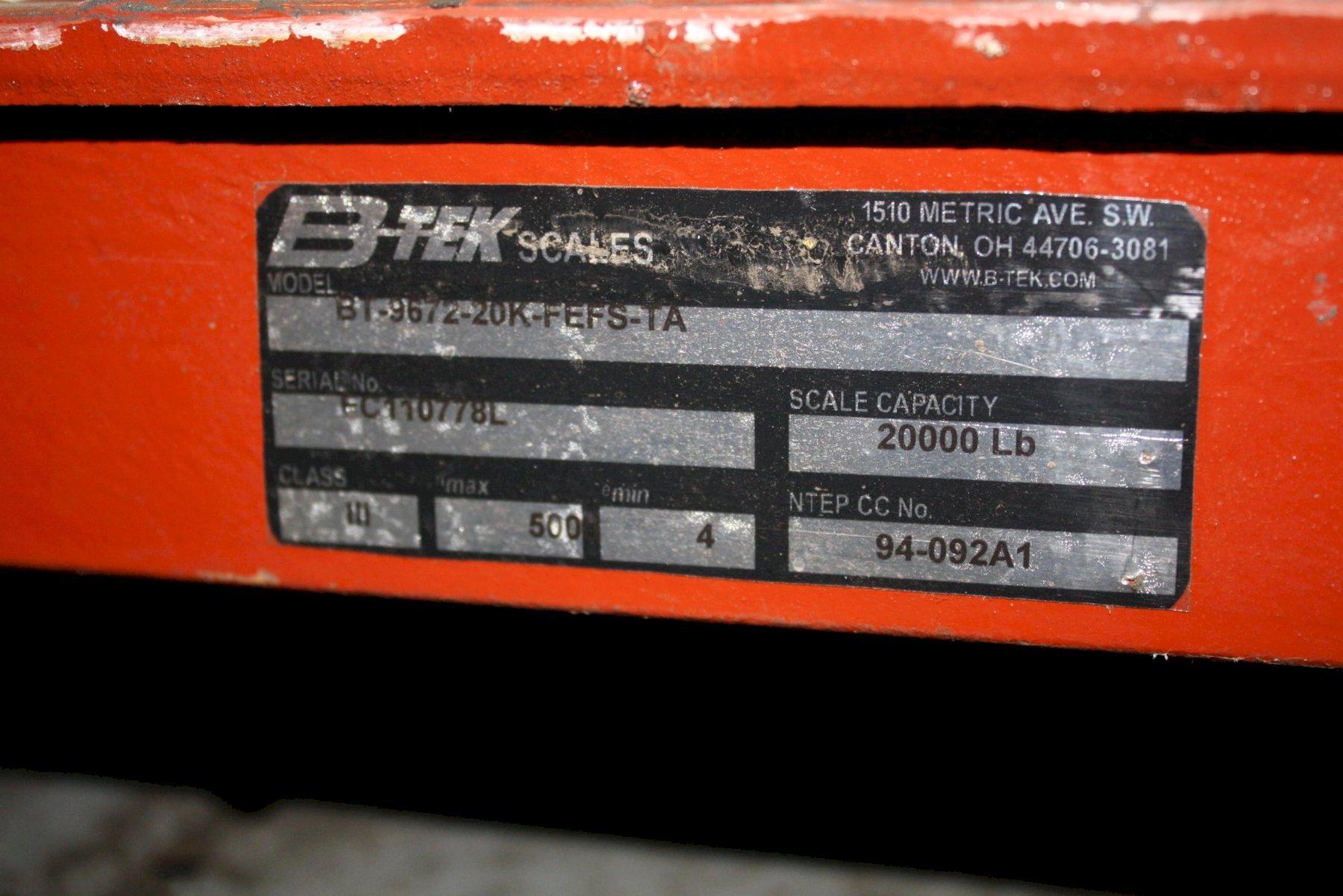 20,000 LB B-TEK PLATFORM SALE: STOCK #66508