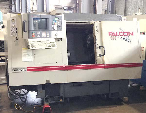 "Cincinnati Milacron Falcon 200, Siemens Acramatic 2100 CNC, 8"" Chuck, 20"" Swing, Tailstock with 16.53"" Centers, New 1997."