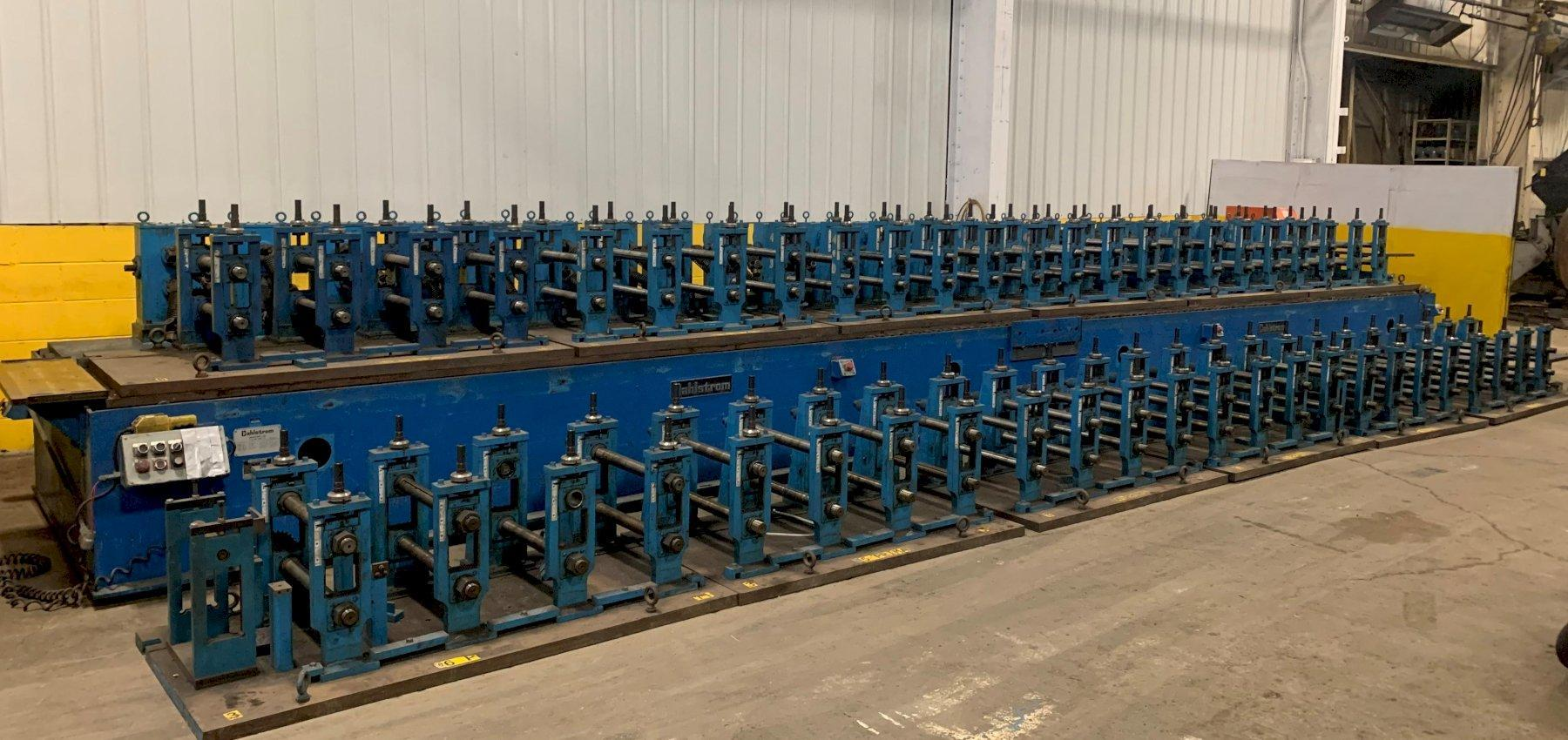 """24 STAND X 2"""" X 18"""" DAHLSTROM RAFTED U-JOINT DRIVE ROLLFORMER WITH 24 ADDITIONAL RAFTED HEADS (48 TOTAL): STOCK #10331"""