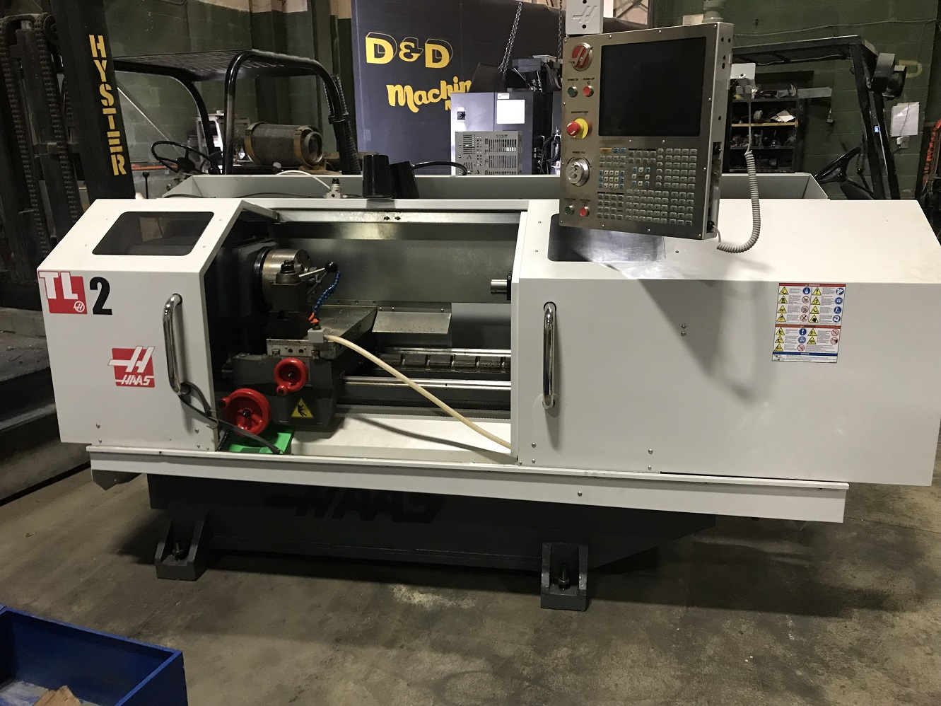 """HAAS TL-2 CNC TOOL ROOM LATHE WITH 10"""" CHUCK, COLLET CLOSER AND STEADY REST"""