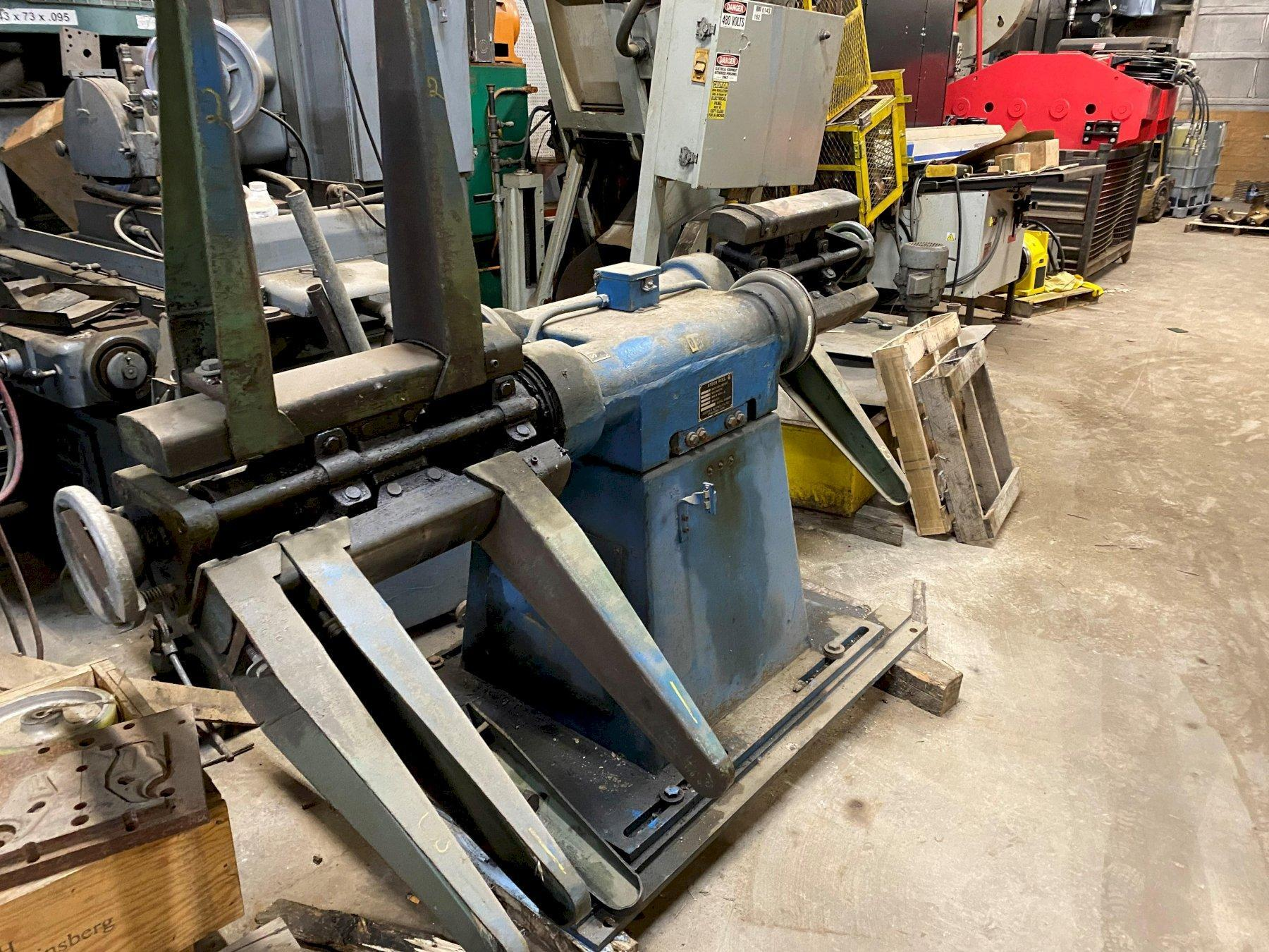 CWP Pull Off Double End Coil Reel Uncoiler 5,000 Lb