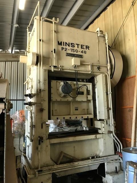 150 TON MINSTER P2-150 'PIECE MAKER' STRAIGHT SIDE PRESS