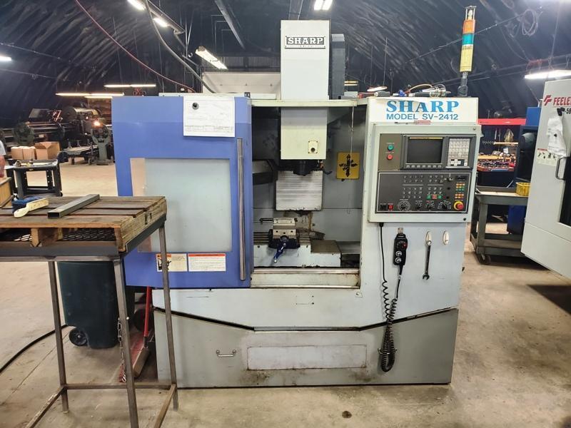SHARP SV-2412 CNC VERTICAL MACHINING CENTER