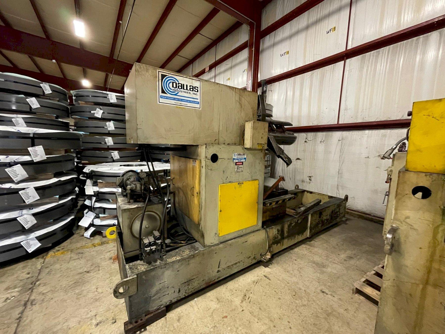 """10,000 lbs x 36"""" Dallas Coil Reel and Powered Straightener"""