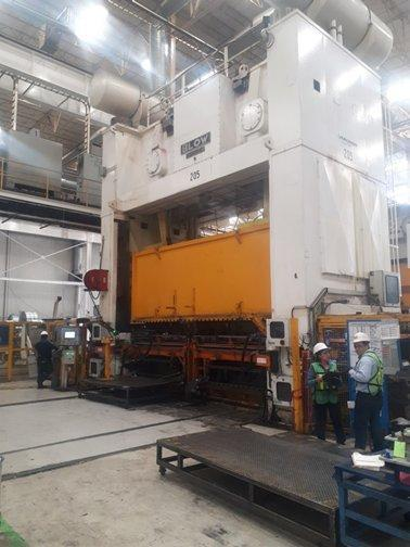 1600 ton Blow SE4-1600-216-96 Straight Side Press, New 2000